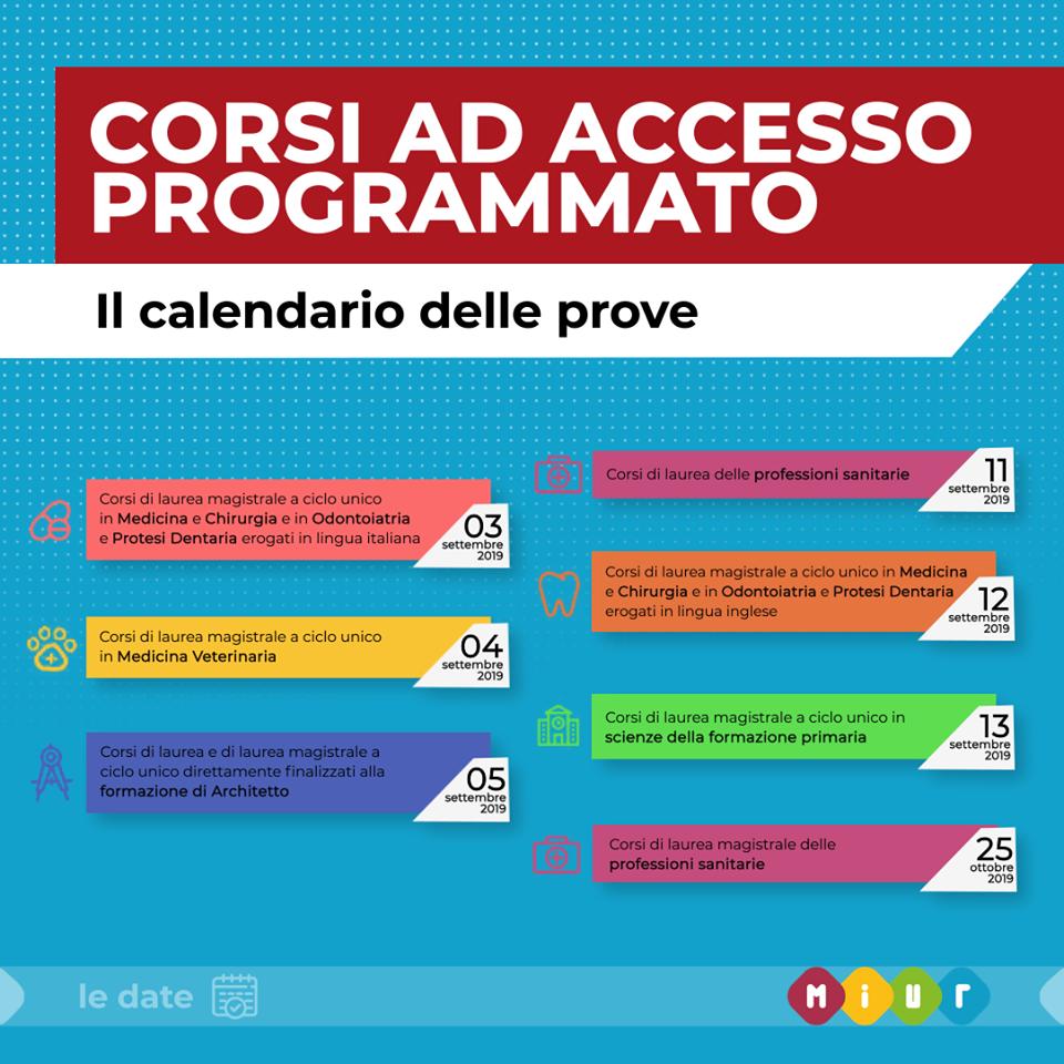 Università, pubblicato il calendario dei test per i corsi ad accesso programmato a livello nazionale